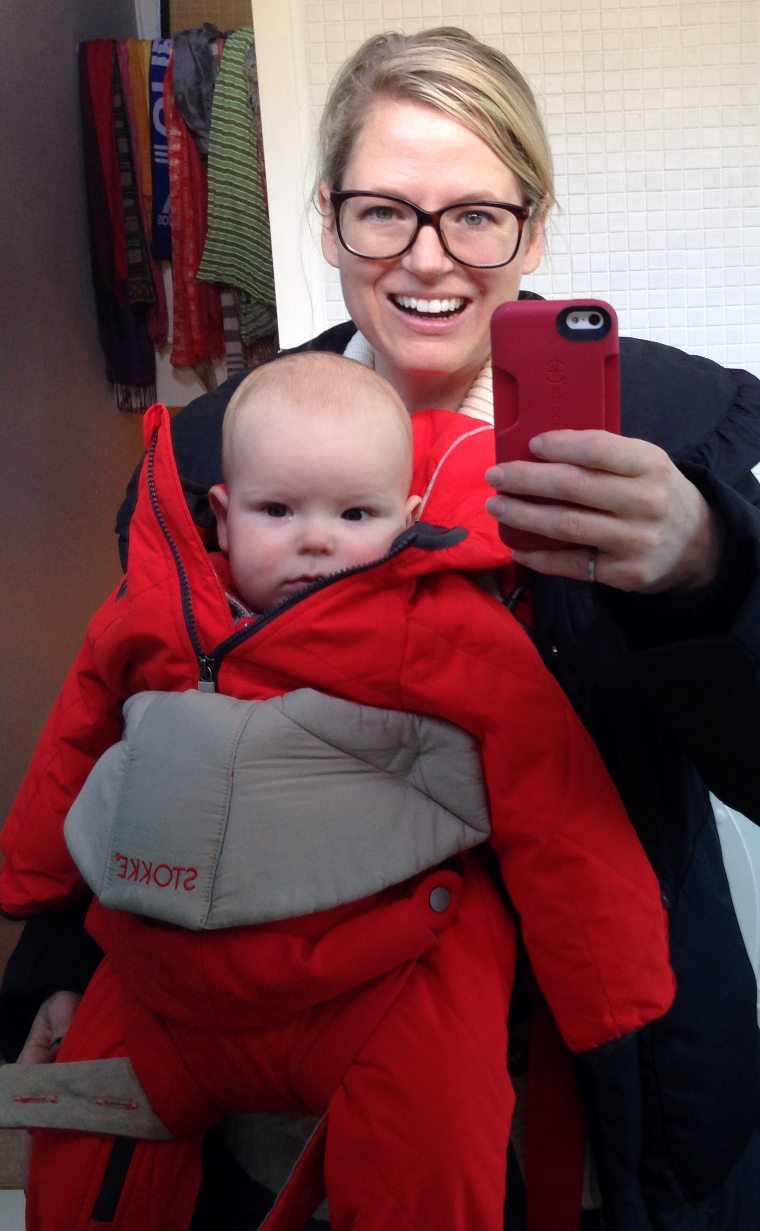 Just about ready to go out using Stokke's MyCarrier