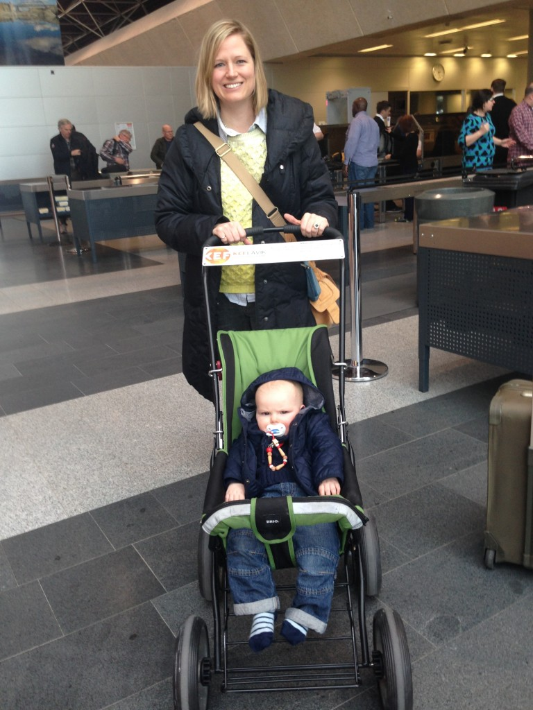 Reykjavik airport provides strollers for babies - FANTASTIC!