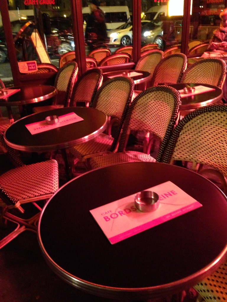 Chairs and tables are packed pretty tight in Paris.