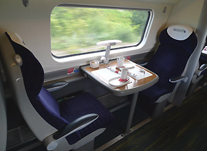 A bit more space - Virgin First Class seats.