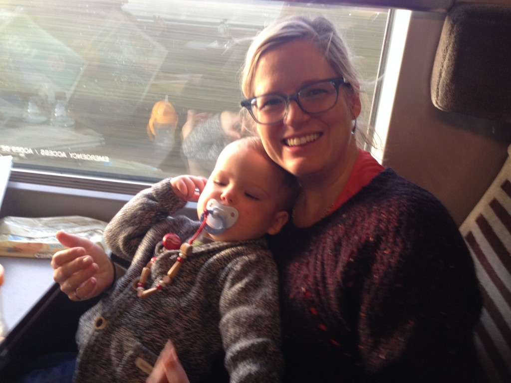 Train travel with baby, bump and me